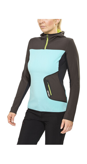 Edelrid Holly sweater grijs/turquoise